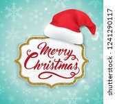 christmas card with golden... | Shutterstock .eps vector #1241290117