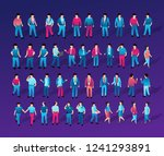 isometric ultraviolet people...   Shutterstock .eps vector #1241293891