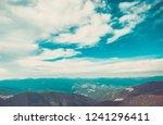 beautiful mountain landscape in ... | Shutterstock . vector #1241296411