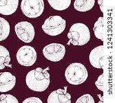 mangosteen seamless pattern ... | Shutterstock .eps vector #1241303341