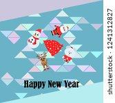christmas card  santa snowman...   Shutterstock .eps vector #1241312827