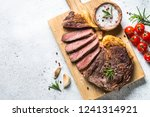 grilled beef steak ribeye... | Shutterstock . vector #1241314921