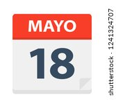 mayo 18   calendar icon   may... | Shutterstock .eps vector #1241324707