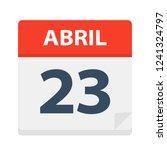 abril 23   calendar icon  ...   Shutterstock .eps vector #1241324797