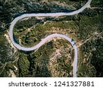 winding road top aerial view... | Shutterstock . vector #1241327881