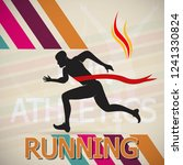 running and marathon logo vector | Shutterstock .eps vector #1241330824