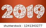 happy new year numbers 2019 for ... | Shutterstock .eps vector #1241343277