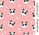 seamless pattern with cute...   Shutterstock .eps vector #1241343601
