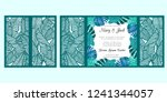laser cut wedding invitation... | Shutterstock .eps vector #1241344057