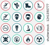 sign icons set with respirator  ... | Shutterstock .eps vector #1241350777
