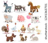 cute farm animals set.... | Shutterstock .eps vector #1241363701