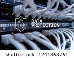 data protection  cyber security ... | Shutterstock . vector #1241363761