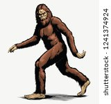 Walking Sasquatch Vector...