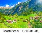 rural landscape in austria ... | Shutterstock . vector #1241381281
