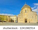 church in besalu  catalonia ... | Shutterstock . vector #1241382514