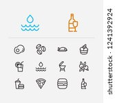 nutrition icons set. pizza and...