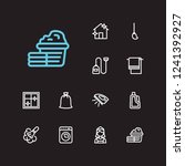 cleaning icons set. house...
