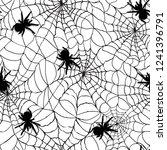 spiderweb seamless cobweb...   Shutterstock .eps vector #1241396791