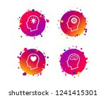 head with brain and idea lamp... | Shutterstock .eps vector #1241415301