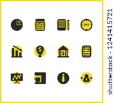 work icons set with sheet with...
