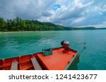 close up long tail boat with... | Shutterstock . vector #1241423677