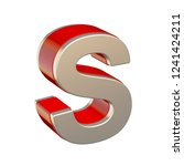 alphabet letter s with red... | Shutterstock . vector #1241424211