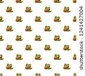 pistachio pattern seamless... | Shutterstock .eps vector #1241427004