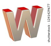 alphabet letter w with red... | Shutterstock . vector #1241429677