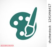 paint brush with palette icon...   Shutterstock .eps vector #1241446417