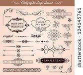 vector set  calligraphic design ... | Shutterstock .eps vector #124145761