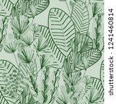 creative seamless pattern with... | Shutterstock . vector #1241460814