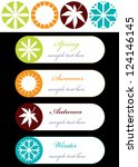 abstract vector tags with... | Shutterstock .eps vector #124146145