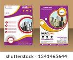 business abstract vector... | Shutterstock .eps vector #1241465644