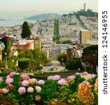Small photo of Lombard street on Russian hill, San Francisco