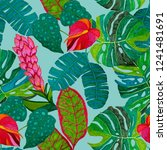 creative seamless pattern with... | Shutterstock . vector #1241481691