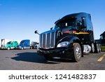 powerful big rigs semi trucks...   Shutterstock . vector #1241482837