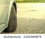 close up car tire and traces.... | Shutterstock . vector #1241484874