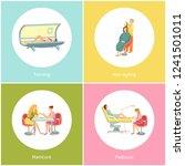 tanning in solarium  woman... | Shutterstock .eps vector #1241501011