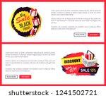 black friday sale off promo... | Shutterstock .eps vector #1241502721