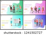 business training  listeners... | Shutterstock .eps vector #1241502727