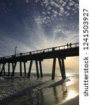 beautiful beach sunset of... | Shutterstock . vector #1241503927