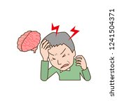 middle age male suffering from... | Shutterstock .eps vector #1241504371