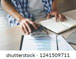 close up hands of businessman...   Shutterstock . vector #1241509711