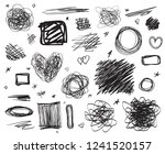 hand drawn lines on isolated... | Shutterstock .eps vector #1241520157
