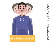 blurred vision as a symptom of... | Shutterstock .eps vector #1241527204