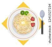 porridge or oatmeal for... | Shutterstock .eps vector #1241527234