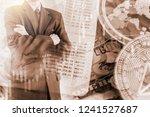 modern way of exchange. bitcoin ... | Shutterstock . vector #1241527687