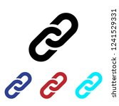 link icon vector. chain.... | Shutterstock .eps vector #1241529331