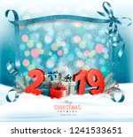 holiday christmas background... | Shutterstock .eps vector #1241533651