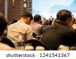 closeup interpreter headset of... | Shutterstock . vector #1241541367